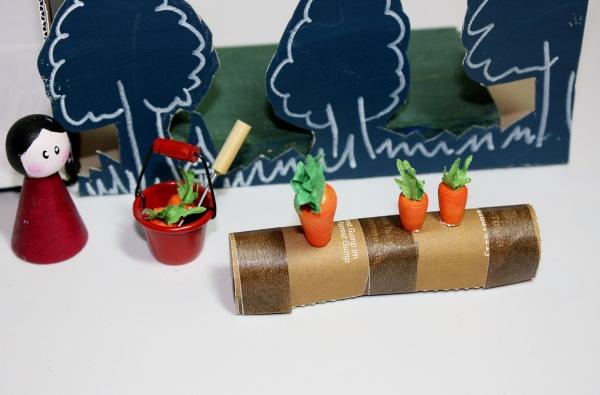 Gemüsegarten mit Möhrenbeet