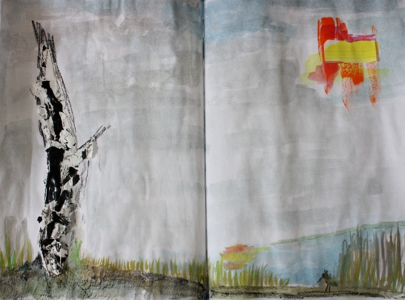 Art Journal: Birkenstumpf am See