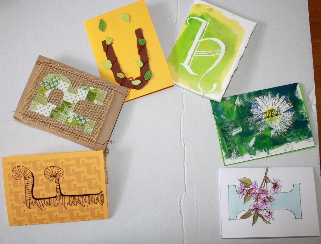 Postkarten der Frühlings Mail Art 2015