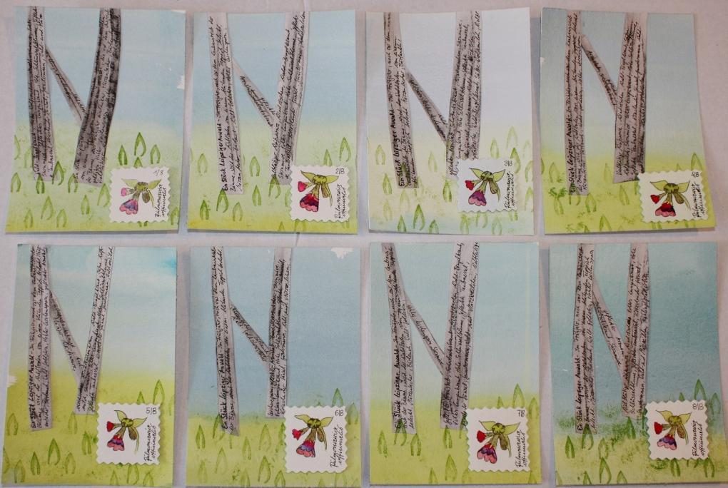 8 Karten für die Frühlingspost 2015