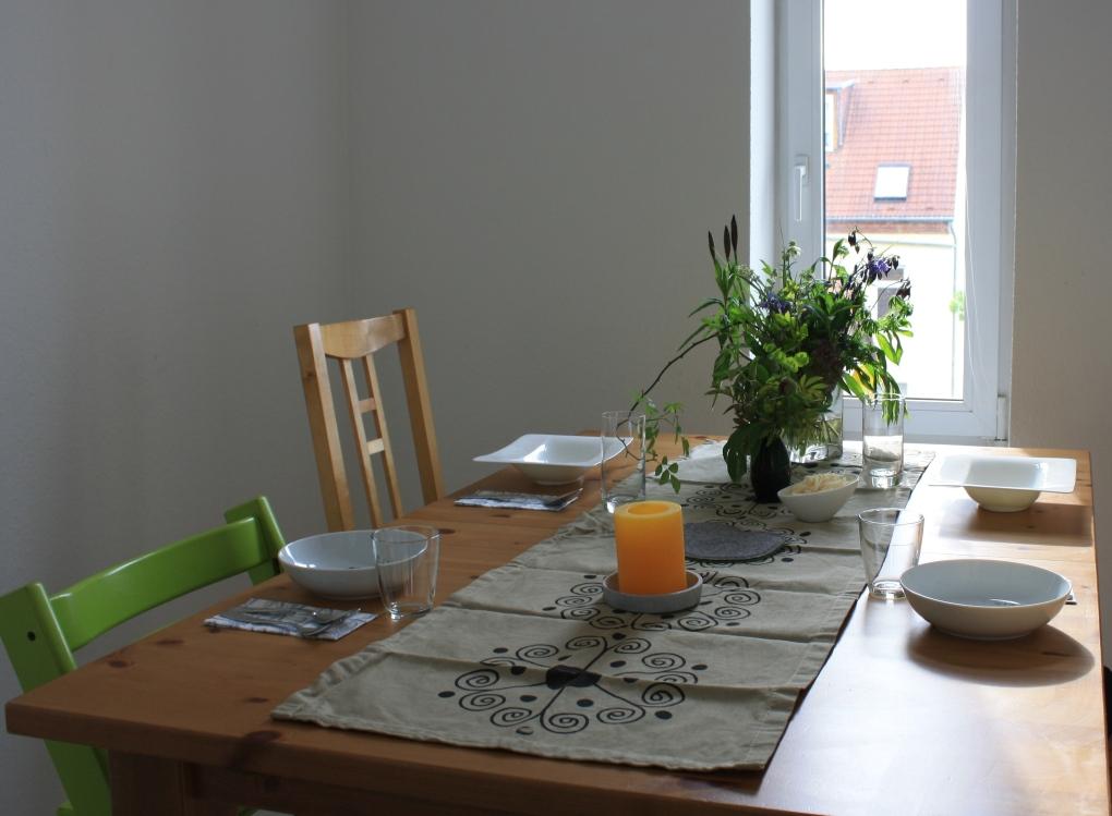 Hübsch gedeckter Tisch