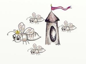 Skizze - Staatenbildende Bienen